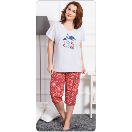 Dámské pyžamo kapri Plameňák