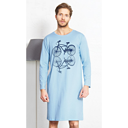 Pánská noční košile s dlouhým rukávem Velociped
