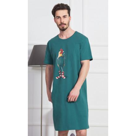 Pánská noční košile s krátkým rukávem Kohout