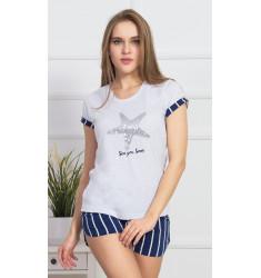 Dámské pyžamo šortky Hvězdice