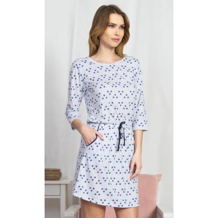 Dámské domácí šaty s tříčtvrtečním rukávem Linda