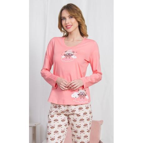Dámské pyžamo dlouhé Sovičky