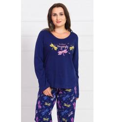 Dámské pyžamo dlouhé Vážky
