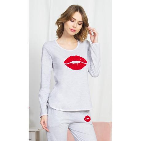 Dámské pyžamo dlouhé Polibek