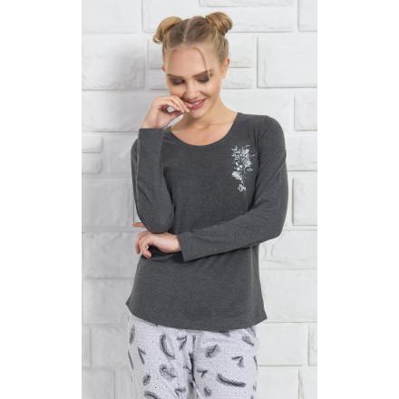 Dámské pyžamo dlouhé Peříčka