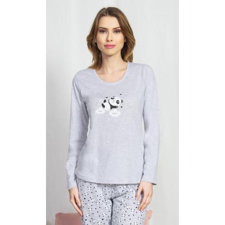 Dámské pyžamo dlouhé Panda na obláčku