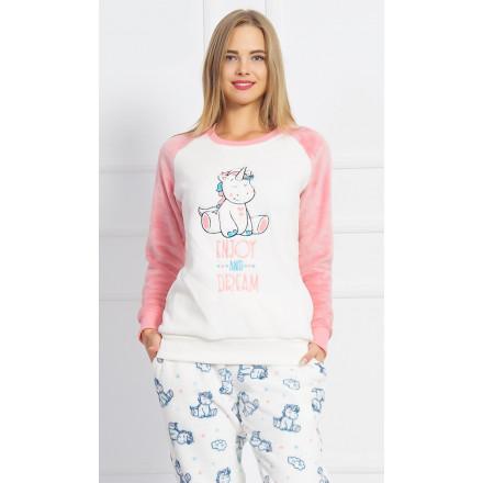 Dámské pyžamo dlouhé Malý jednorožec