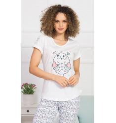 Dámské pyžamo kapri Velká sova
