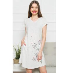 Dámské domácí šaty s krátkým rukávem Pampelišky