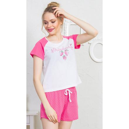 Dámské pyžamo šortky Strawberry