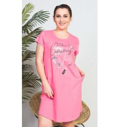 Dámské domácí šaty s krátkým rukávem Girl