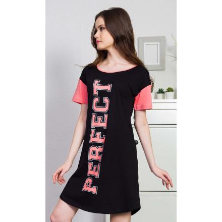 Dámská noční košile s krátkým rukávem Perfect