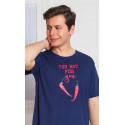 Pánská noční košile s krátkým rukávem Chilli