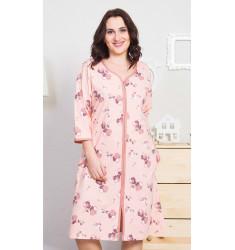 Dámské domácí šaty s tříčtvrtečním rukávem Barbara