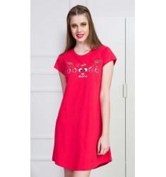 Dámská noční košile s krátkým rukávem Třešně
