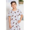 Dětská noční košile s krátkým rukávem Medvědi