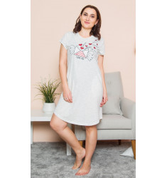Dámské domácí šaty s krátkým rukávem Dopis z lásky
