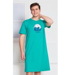 Pánská noční košile s krátkým rukávem Sleep well