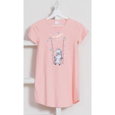 Dětská noční košile s krátkým rukávem Zebra