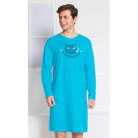 Pánská noční košile s dlouhým rukávem Nightbird
