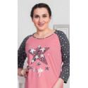 Dámská noční košile s tříčtvrtečním rukávem Star