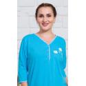 Dámská noční košile s tříčtvrtečním rukávem Kopretiny