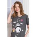Dámská noční košile s krátkým rukávem Panda