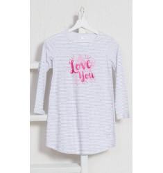 Dětská noční košile s dlouhým rukávem Love you