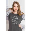 Dámská noční košile s dlouhým rukávem Princess cat