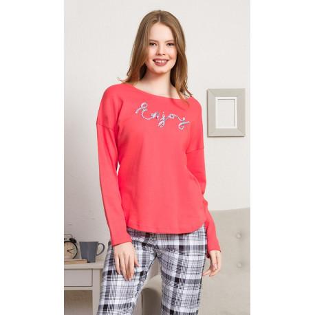 Dámské pyžamo dlouhé Enjoy