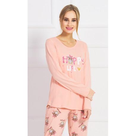 Dámské pyžamo dlouhé Happy life
