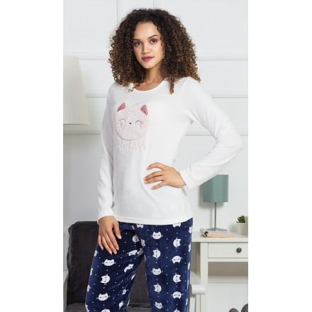 Dámské pyžamo dlouhé Kitty