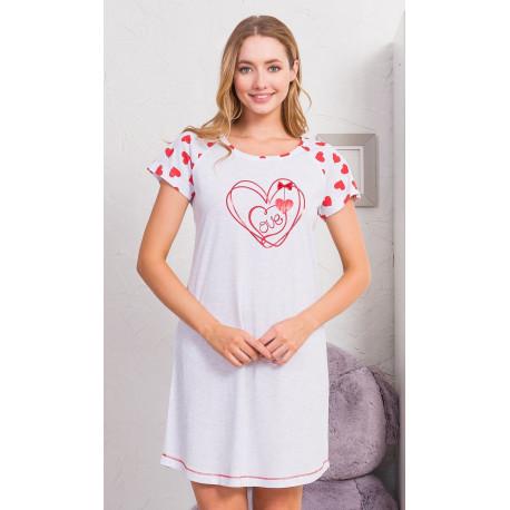 Dámská noční košile s krátkým rukávem Love