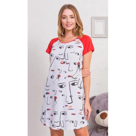 Dámská noční košile s krátkým rukávem Fiona