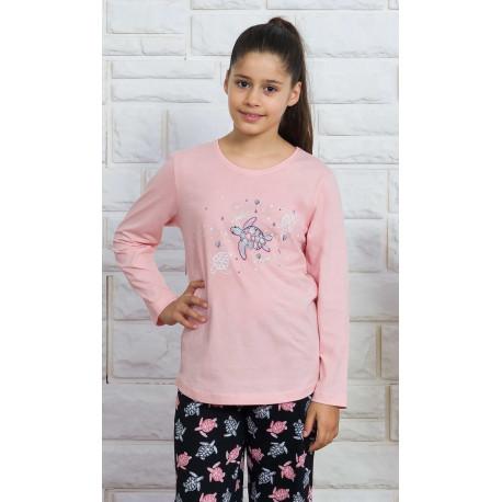 Dětské pyžamo dlouhé Želva
