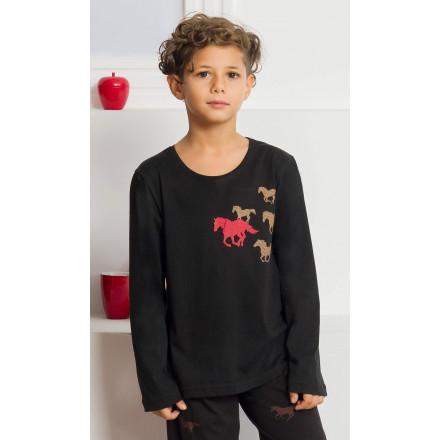 Dětské pyžamo dlouhé Koně