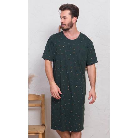 Pánská noční košile s krátkým rukávem Jakub