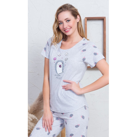 Dámské pyžamo kapri Ježek s donutem