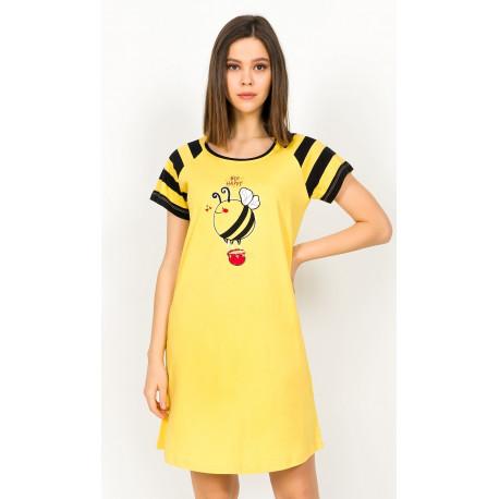Dámská noční košile s krátkým rukávem Včelka