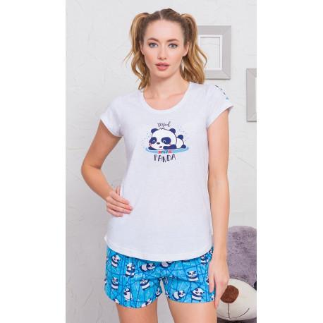 Dámské pyžamo šortky Malá panda