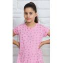 Dětská noční košile s krátkým rukávem Srdíčka