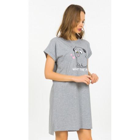 Dámská noční košile s krátkým rukávem Štěně