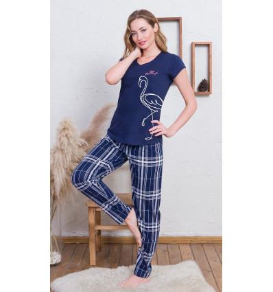 Dámské pyžamo s krátkým rukávem Flamingo