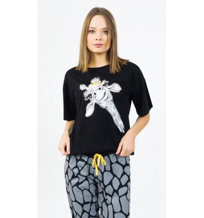Dámské pyžamo kapri Žirafa