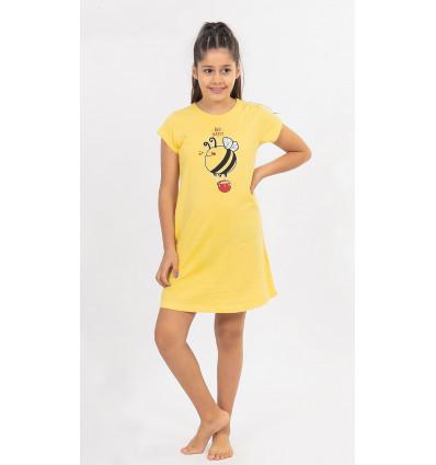 Dětská noční košile s krátkým rukávem Včelka
