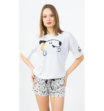 Dámské pyžamo šortky Štěně