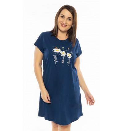 Dámská noční košile s krátkým rukávem Kopretiny