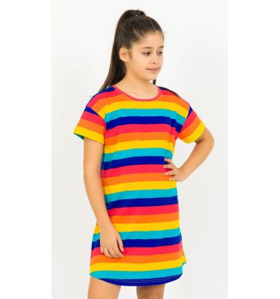 Dětská noční košile s krátkým rukávem Proužky