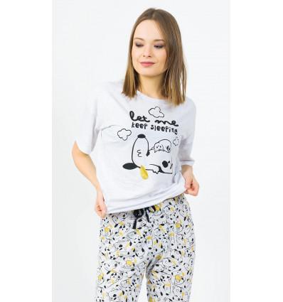 Dámské pyžamo kapri Štěně a kotě