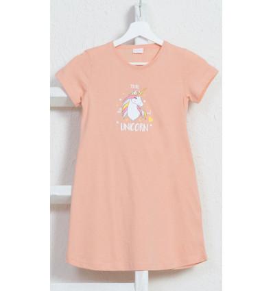 Dětská noční košile s krátkým rukávem Jednorožec